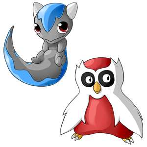 My Drawing Of Baby Cranidos And Baby Delibird