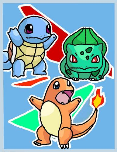 My Drawing Of The Kanto Starters