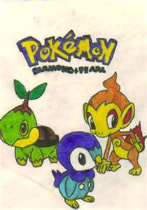 My Drawing Of The Sinnoh Starters