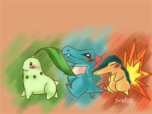 My Drawing Of the johto starters