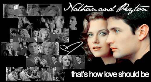 Nathan Scott wallpaper probably containing a sign and a portrait called Nathan and Peyton ♥