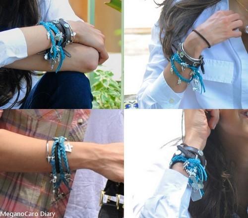 Nina Dobrev wearing the exclusive Ian Somerhalder Foundation bracelet by Canvas Warriors