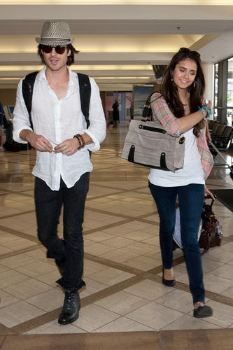 Nina - Leaving LAX with Ian - July 07, 2011