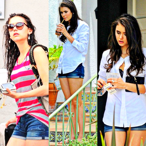 The Vampire Diaries TV ipakita wolpeyper possibly with bare legs called Nina SMOKES?