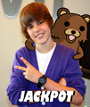 Pedobear and Justin Bieber