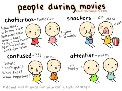 People during movies. Which type are you?