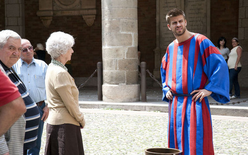 Pique in commercial for Sky Sports
