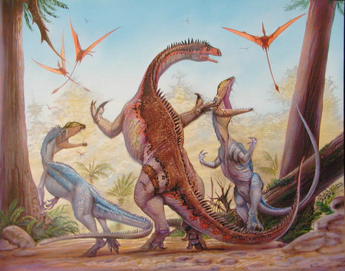 Dinosaurs wallpaper with a triceratops called Plateosaurus vs Liliensternus