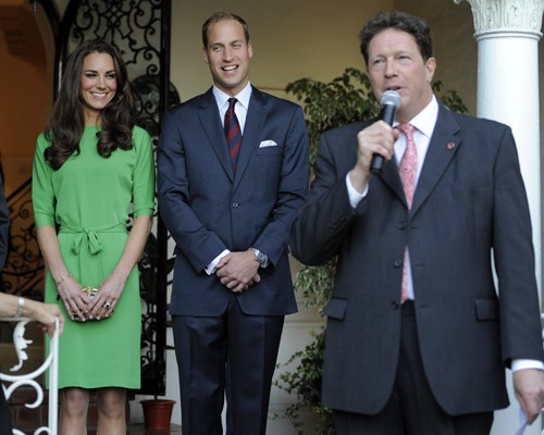 Prince William And Kate Middleton At A Private Reception