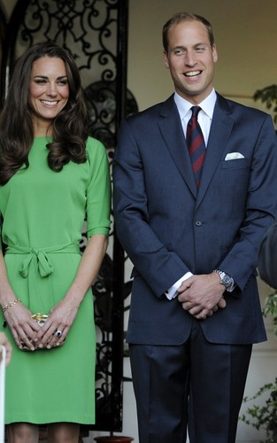 Prince William and Kate Middleton at a private reception at the British Consul-General's residence.