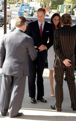 Prince William and Kate Middleton in Los Angeles (July 8).