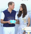 Prince William wins a polo match, Kate offers him the reward