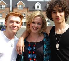 Rupert Grint with Robert Sheehan and Kimberley Nixon