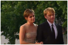 Rupert and Emma on DH2 Лондон Premiere
