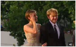 Rupert and Emma on DH2 London Premiere