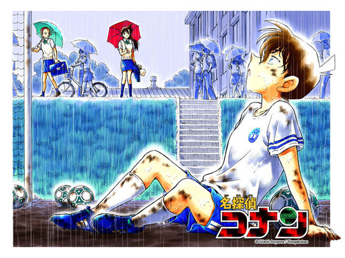 shinichi x ran wallpaper possibly with anime entitled Shinichi x Ran
