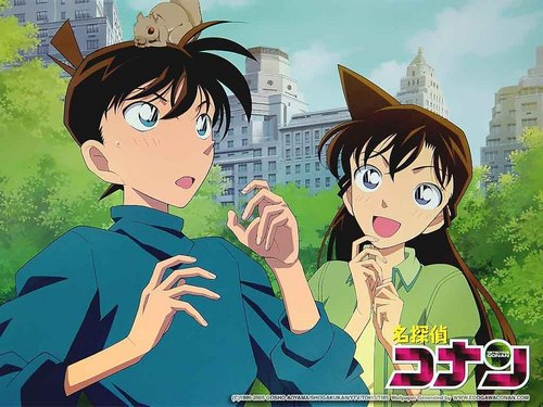 shinichi x ran wallpaper probably with anime titled Shinichi x Ran