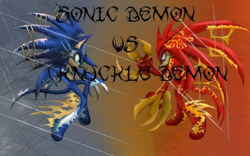 Sonic Demon VS Knuckles Demon