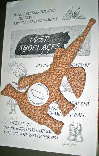 Stuffed Elephant, Napkin & Shoelace
