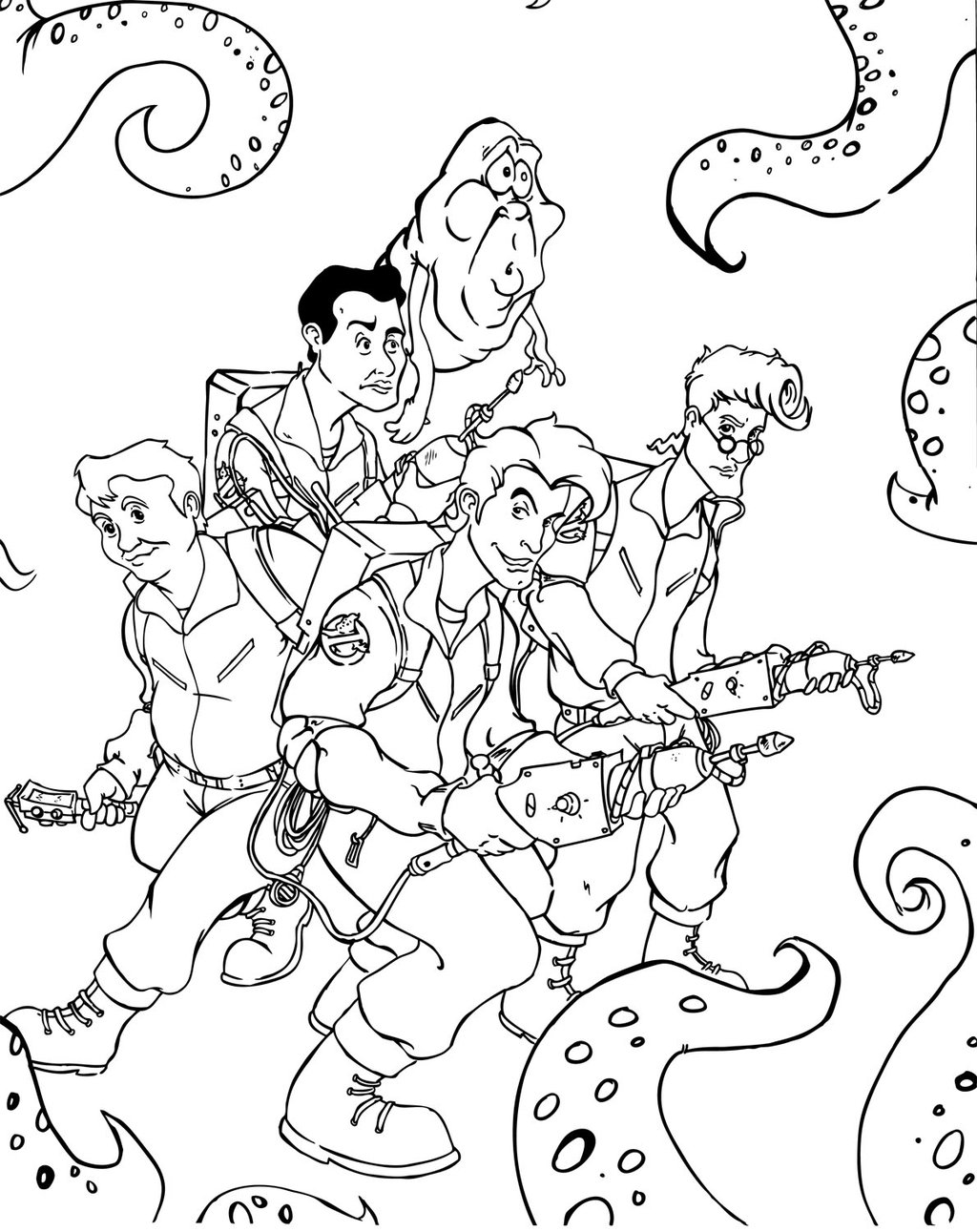 The Real Ghostbusters Images The Real Ghostbusters Hd Ghostbusters Coloring Pages