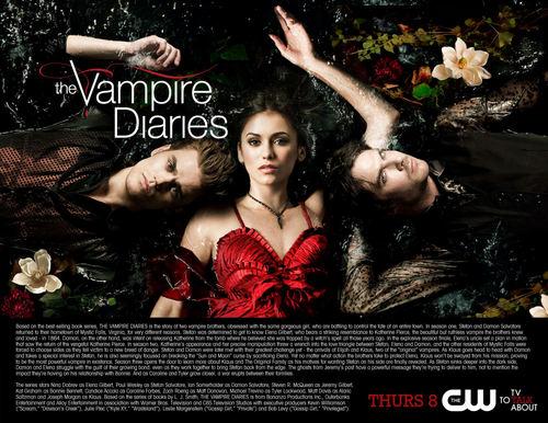 The vampire diaries season 3 poster