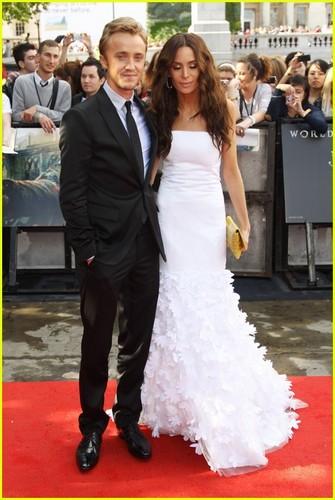 Tom Felton: 'Harry Potter' Premiere with Jade Olivia!
