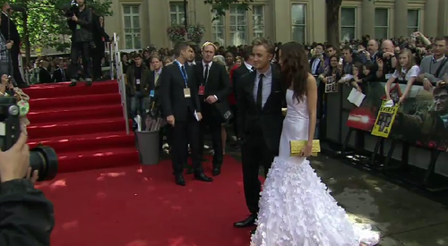 Tom Felton arrives at Premiere