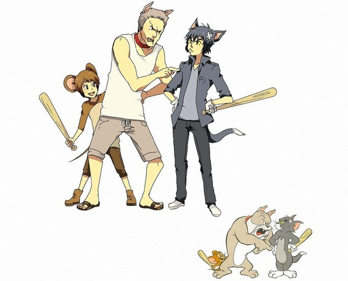 Tom and Jerry humanized