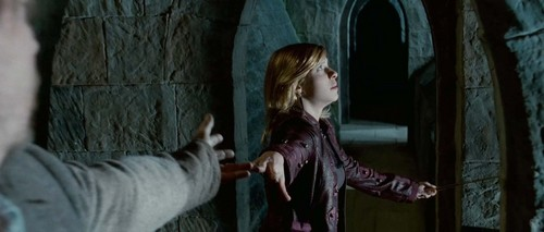 Tonks & Lupin wallpaper probably containing a street and a surcoat entitled Tonks & Lupin in Deathly Hallows pt 2 Trailer