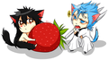 Ulki and Grimmjow neko - neko photo