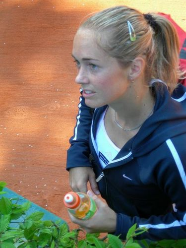 Klara Zakopalova is on court & Awfully Cute