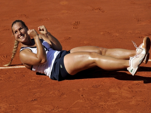 Dominika Cibulkova in Relaxed on Clay