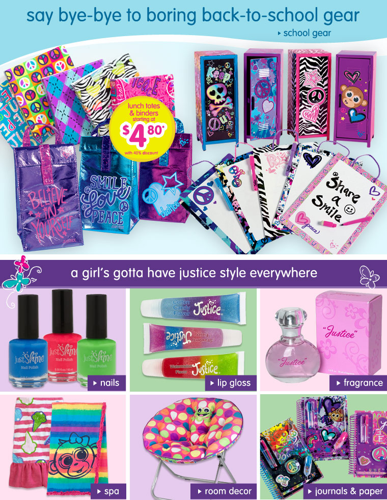 Justice the store for girls clothes