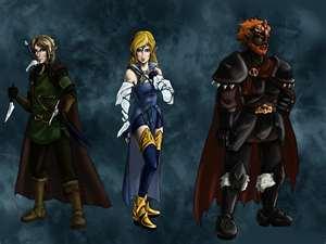 Link Zelda And Ganon Warrior Form The Legend Of Zelda