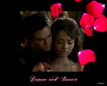 my new bamon wallpaper set: 5 rose petals - damon-and-bonnie wallpaper