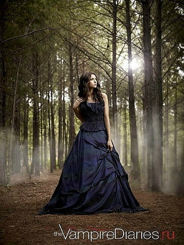 Nina Dobrev wallpaper probably containing a gown, a bridal gown, and a dinner dress called new promo
