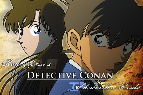 shinichi x ran wallpaper with anime called shinichi ran scarry