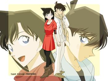 shinichi x ran wallpaper with anime called shinichi ran