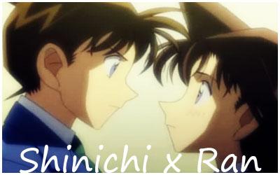 shinichi x ran wallpaper possibly with anime titled shinichi x ran