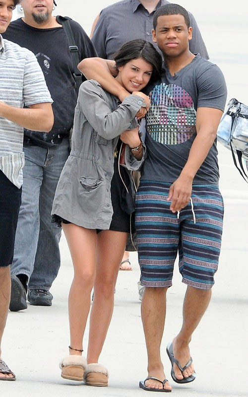 """90210"" filming on the beach in Los Angeles, California (July 12)."