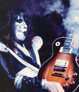 KISS wallpaper possibly containing a guitarist titled Ace ~ Smokin' Guitar
