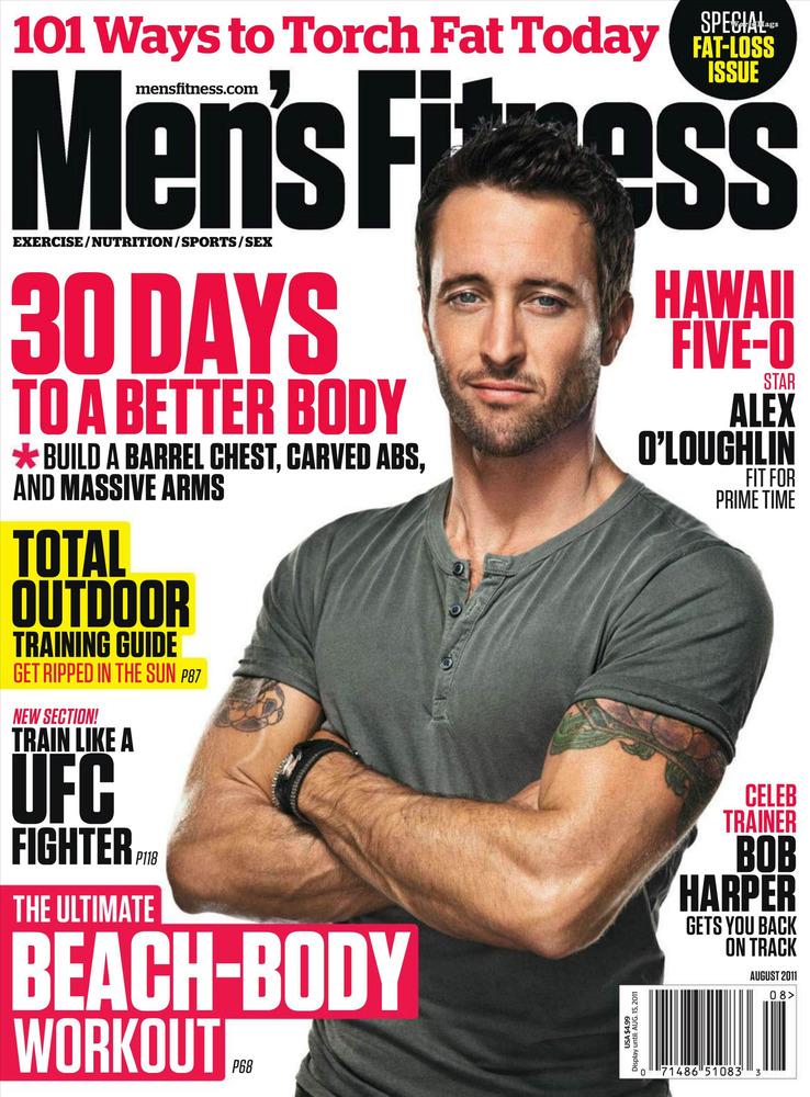 Alex O'Loughlin on Men's Fitness Cover August 2011