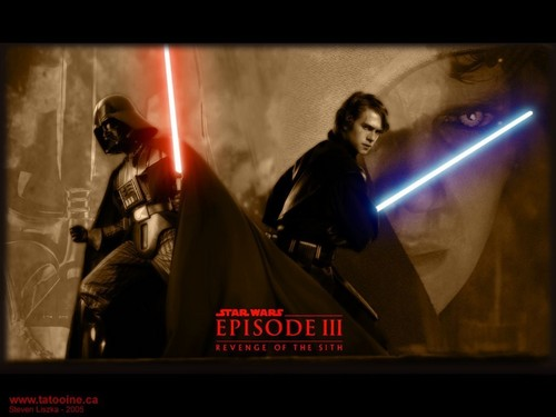 bintang Wars: Revenge of the Sith wallpaper probably containing a konser called Anakin and Darth