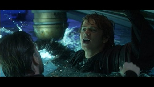 bintang Wars: Revenge of the Sith wallpaper probably with a televisi receiver called Anakin and Obi wan deleted scene