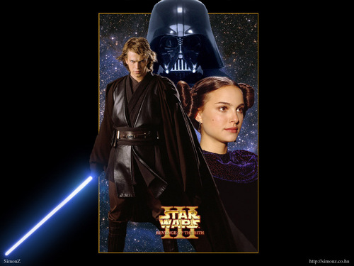 bintang Wars: Revenge of the Sith wallpaper possibly with a sign titled Anakin and Padme
