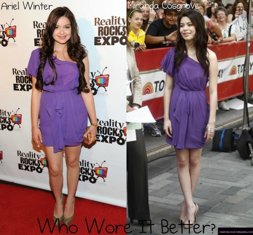 Ariel Winter vs. Miranda Cosgrove