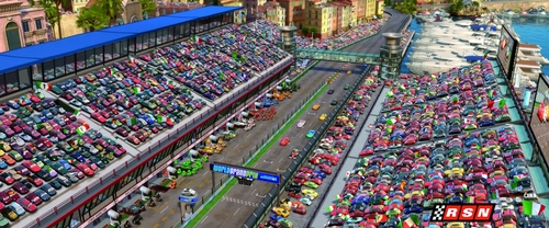 Disney Pixar Cars 2 wallpaper containing a business district called Cars 2 pics :)