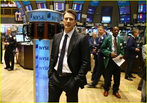 Chris Evans Rings NYSE Opening Bell