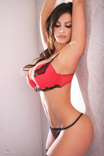 Denise Milani - Red Lingerie