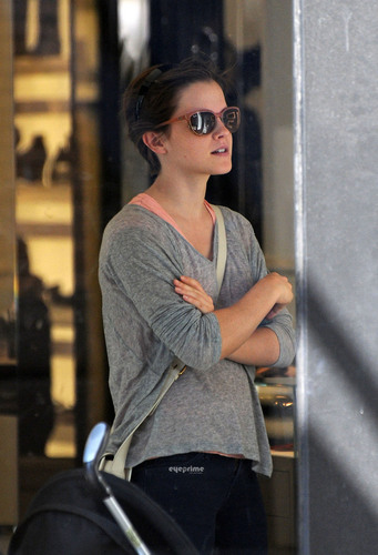 Emma Watson shops at Chanel in SoHo, NY, Jul 13